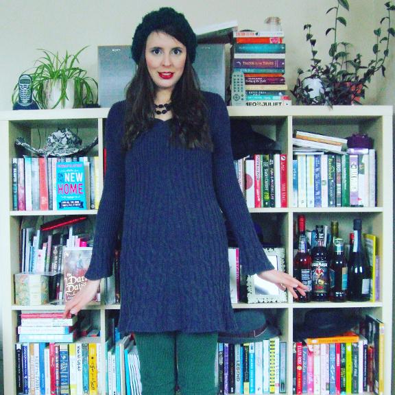 purple dress, jumper dress, sweater dress, Next jumper dress, knitted dress, knit dress